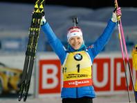 Финка Кайса Мякяряйнен стала победительницей Кубка мира по биатлону