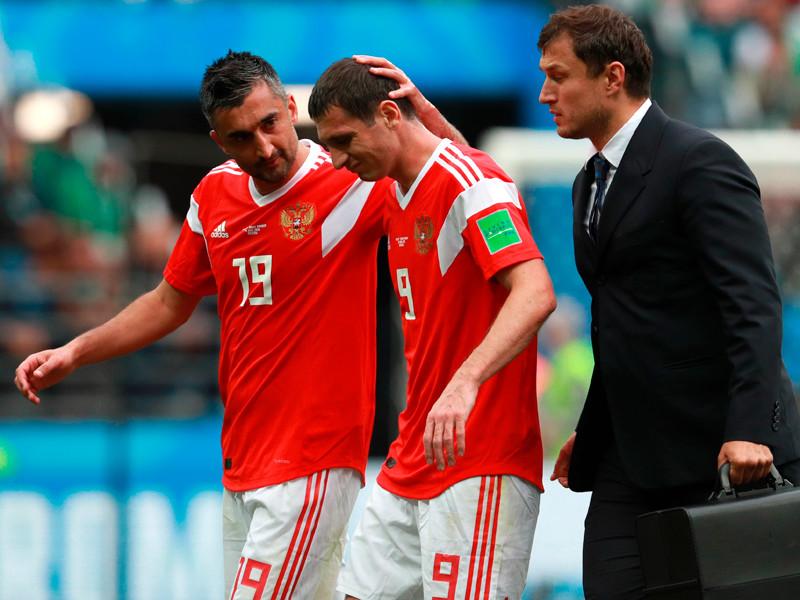 Алан Дзагоев, получивший травму задней поверхности бедра в стартовом матче чемпионата мира по футболу