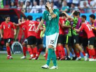 Сборная Южной Кореи обыграла команду Германии в матче третьего, заключительного тура группового этапа чемпионата мира по футболу