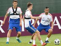 За два дня до старта ЧМ-2018 российские футболисты тренируются в полном составе