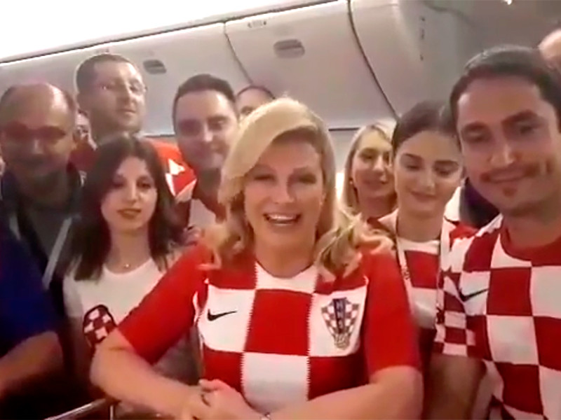 Президент Хорватии попросила у российских болельщиков поддержки во время финала ЧМ-2018