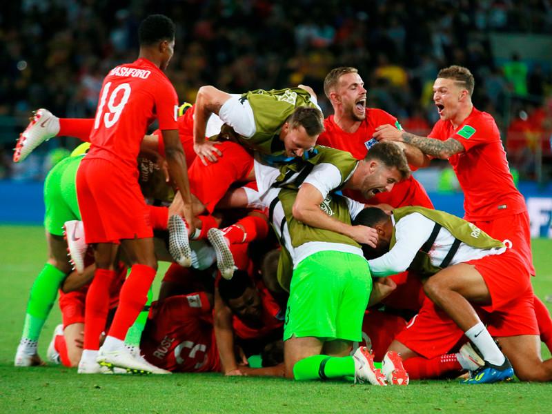 Сборная Англии переиграла команду Колумбии в заключительном матче 1/8 финала чемпионата мира по футболу