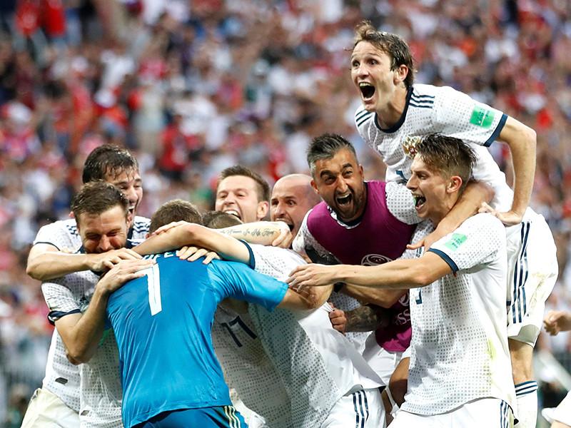 Сборная России добилась победы над сборной Испании в матче 1/8 чемпионата мира по футболу