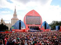 Десятки тысяч болельщиков встретили овациями сборную России по футболу в фан-зоне в Москве