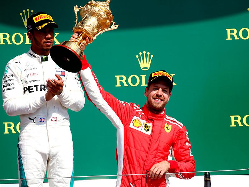 Гонщик Себастьян Феттель выиграл Гран-при Великобритании
