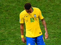 Неймар после матча 1/4 финала чемпионата мира по футболу между сборными Бразилии и Бельгии
