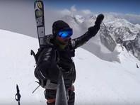 Поляк Анджей Баргель первым в истории съехал на лыжах со второй по высоте вершины Земли