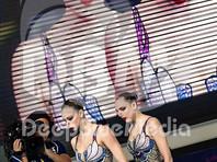 Российские синхронистки Светлана Колесниченко и Варвара Субботина выиграли золотые медали чемпионата Европы в произвольной программе дуэтов в Глазго, показав результат 96,7000 балла