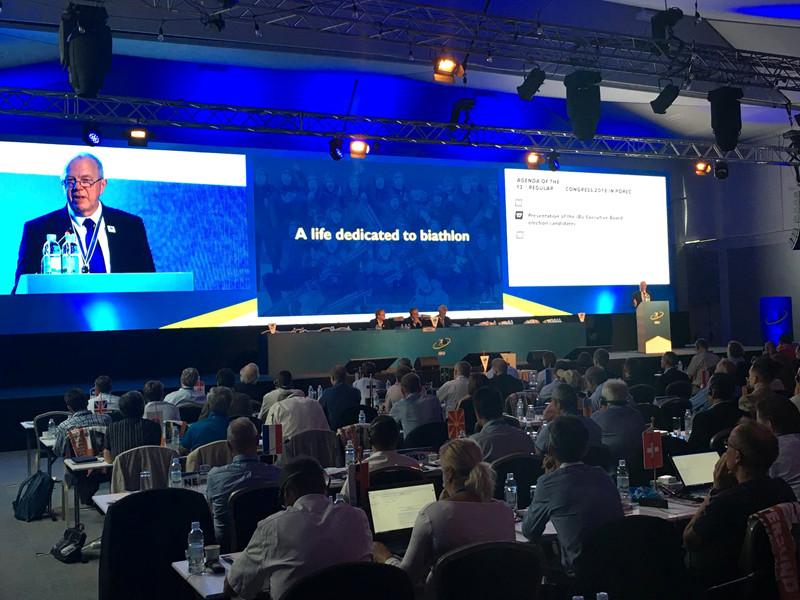 Международный союз биатлонистов впервые получил нового президента - шведа Олле Далина