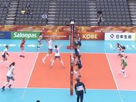 Российские волейболистки одержали третью победу подряд на чемпионате мира