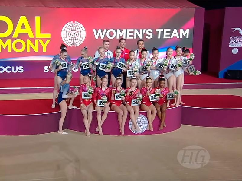 Женская сборная России завоевала серебряные медали в командном турнире на чемпионате мира по спортивной гимнастике, который проходит в эти дни в Дохе