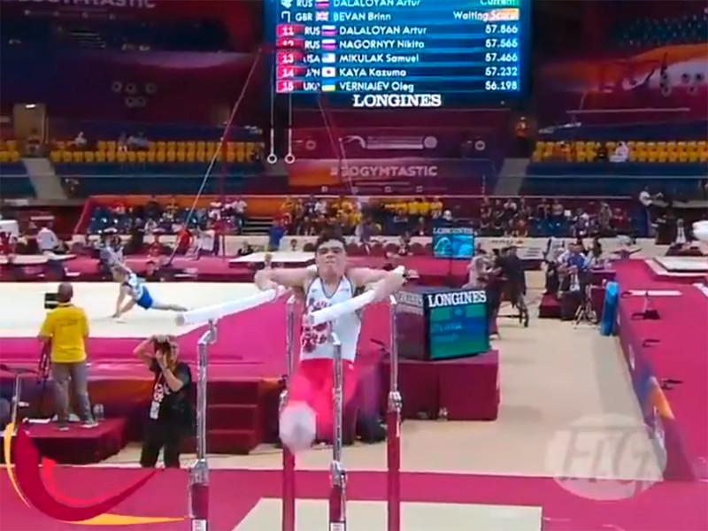 22-летний гимнаст Артур Далалоян принес России первое с 1999 года золото в мужском индивидуальном многоборье на чемпионате мира в Дохе