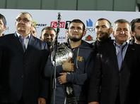 Боец Хабиб Нурмагомедов объявлен народным героем Дагестана