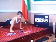 """Пятилетний """"чеченский Шварценеггер"""" отжался 4105 раз, но его рекорд не зафиксировали"""