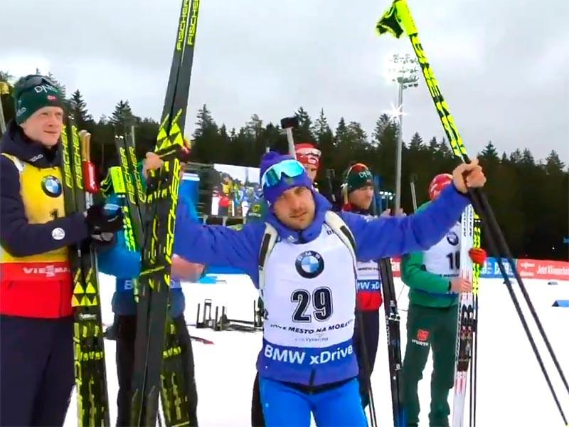 Евгений Гараничев выиграл бронзу на этапе Кубка мира по биатлону