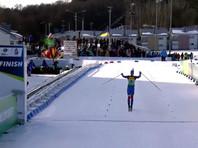 Россияне выиграли смешанную эстафету на чемпионате Европы по биатлону