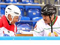 Владимир Путин и Александр Лукашенко сыграли в хоккей за одну команду (ВИДЕО)