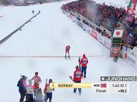 Российские лыжники завоевали серебро чемпионата мира в эстафете
