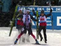 Российские биатлонисты остановились в шаге от пьедестала смешанной эстафеты на ЧМ