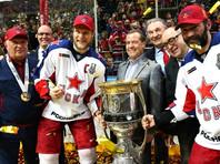 Дмитрий Медведев стал обладателем золотой медали КХЛ, не остался без награды и внук Третьяка, не сыгравший ни одного матча за ЦСКА