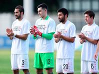 Грузинские футболисты вышли на матчи с антироссийскими лозунгами, среди них были уроженцы Москвы