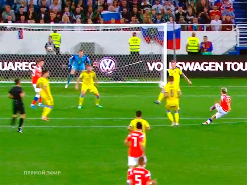 Российские футболисты одолели Казахстан благодаря чудо-голу бывшего бразильца
