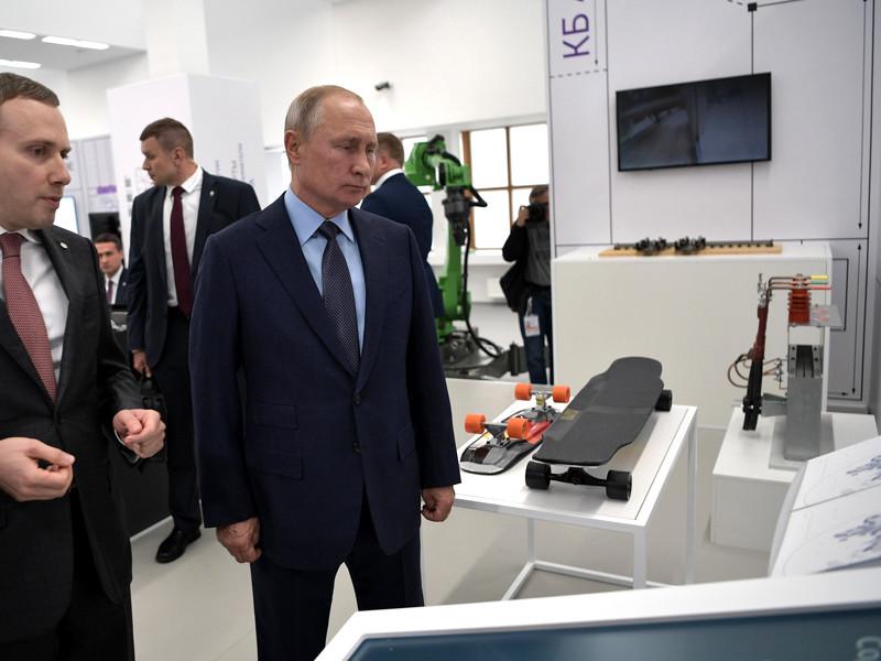 """Владимир Путин на выставке """"Конструкторское бюро АСИ"""", 18 сентября 2019 года"""