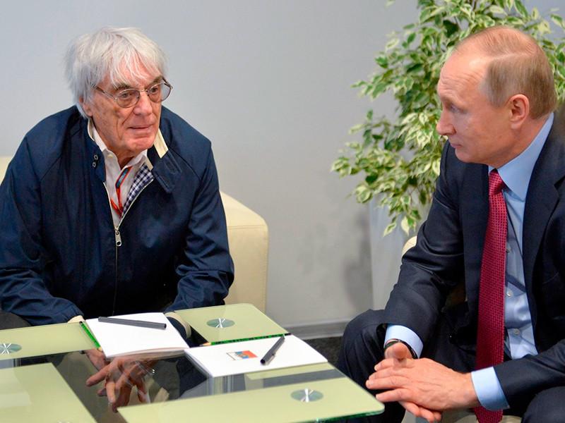 Владимир Путин и Берни Экклстоун, 1 мая 2016 года
