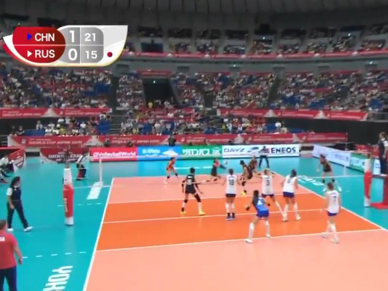 Российские волейболистки потерпели первое поражение на Кубке мира