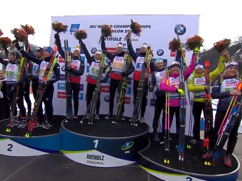 Норвежские биатлонисты выиграли стартовую гонку чемпионата мира