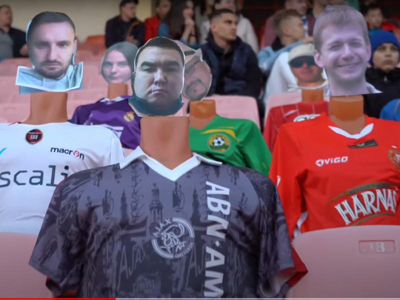 На футбольных аренах Белоруссии вместо болельщиков рассаживают манекены