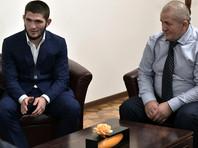 Хабиб Нурмагомедов и его отец, тренер Абдулманап Нурмагомедов