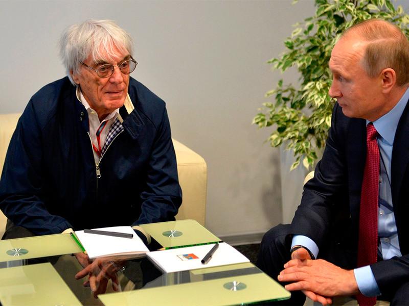 Берни Экклстоун и Владимир Путин, 1 мая 2016 года
