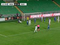 Футболисты сборной России сыграли вничью с Молдавией в товарищеском матче