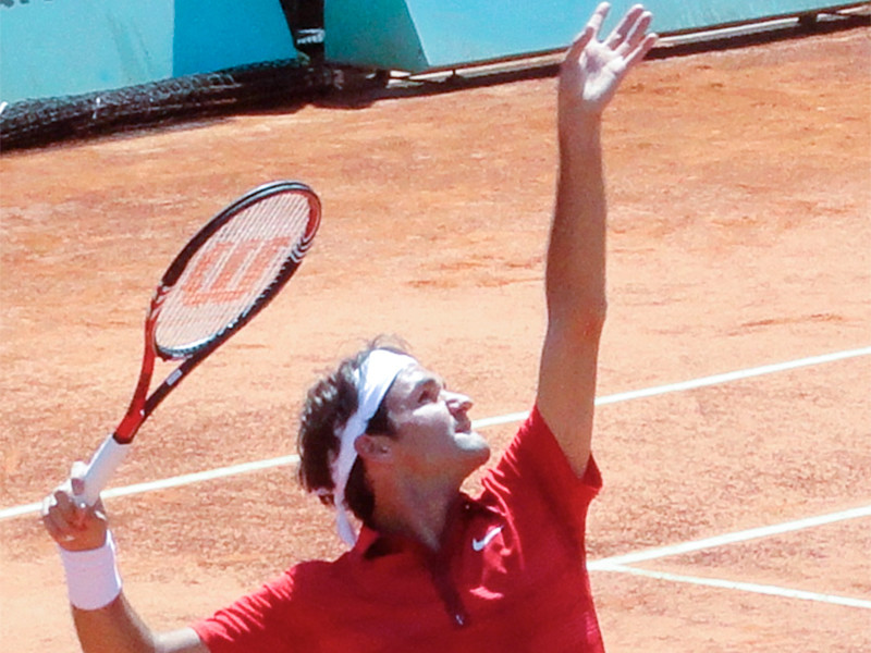 Ракетка швейцарского теннисиста Роджера Федерера, которой он играл в решающем матче Roland Garros-2011 против испанца Рафаэля Надаля, была продана на онлайн-аукционе