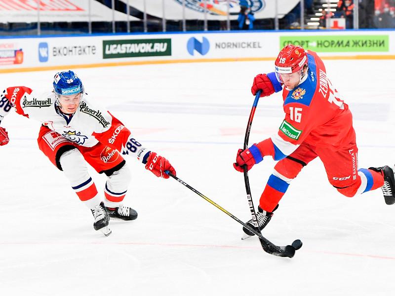 Российские хоккеисты обыграли чехов в матче Кубка Первого канала