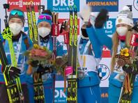 В итальянском Антхольце женская сборная России стала победителем эстафеты на седьмом этапе Кубка мира по биатлону