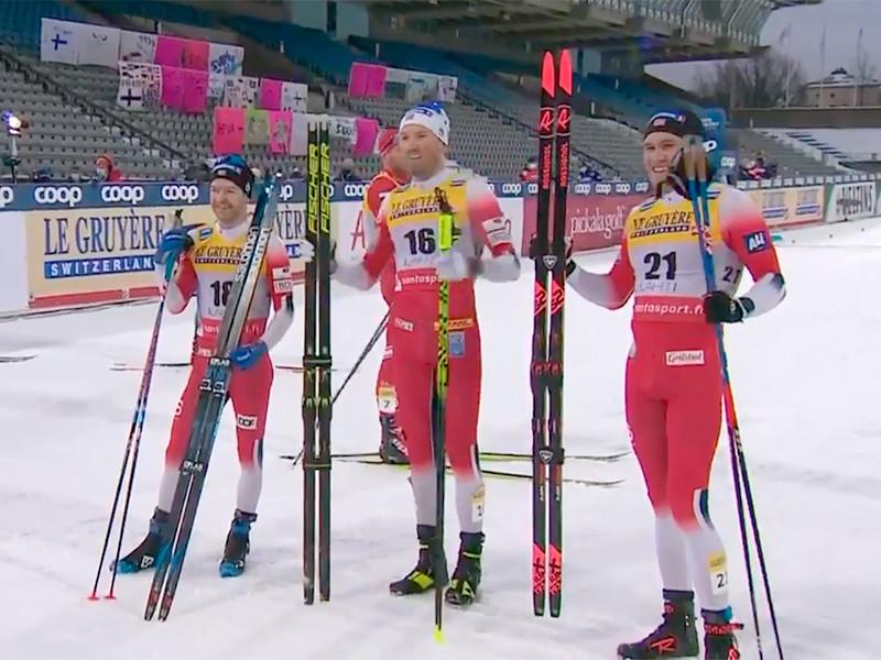 В финском Лахти лыжник Эмиль Иверсен занял первое место в скиатлоне на этапе Кубка мира. Норвежец преодолел дистанции 30 км (15 км классическим стилем + 15 км свободным стилем) за 1 час 10 минут 18,4 секунды. Второе и третье места также заняли представители Норвегии