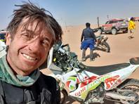 """Французский мотогонщик Пьер Шерпен из команды Heros des Belles-Motos скончался от последствий травм, полученных 10 января на седьмом этапе ралли-марафона """"Дакар"""" в Саудовской Аравии"""