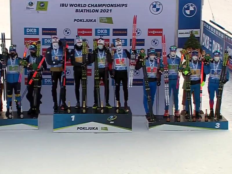 Карим Халили, Матвей Елисеев, Александр Логинов и Эдуард Латыпов стали третьими в мужской эстафете, которая прошла в предпоследний день соревнований