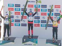 В словенской Поклюке австрийка Лиза Тереза Хаузер заняла первое место в гонке с общего старта на чемпионате мира по биатлону