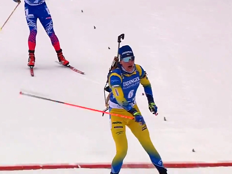 Швед Мартин Понсилуома стал победителем мужской спринтерской гонки на чемпионате мира по биатлону, который проходит в эти дни в словенской Поклюке