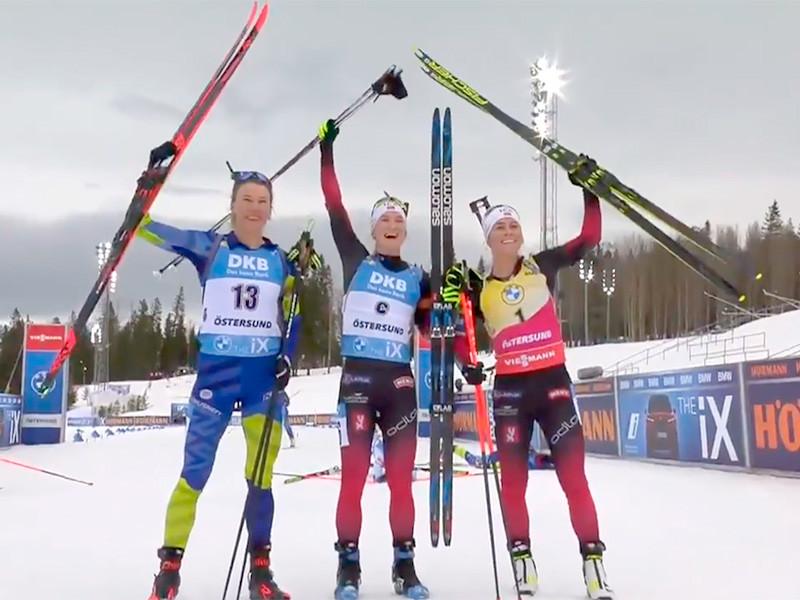 В шведском Эстерсунде биатлонистка Марте Рёйселанн выиграла гонку преследования на заключительном этапе Кубка мира, преодолев дистанцию 10 км за 32 минуты 54,8 секунды. Норвежка допустила четыре промаха на четырех огневых рубежах