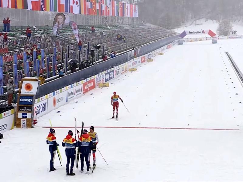 Мужская сборная России по лыжным гонкам заняла второе место в эстафете 4 по 10 километров на чемпионате мира по лыжным видам спорта в немецком Оберстдорфе