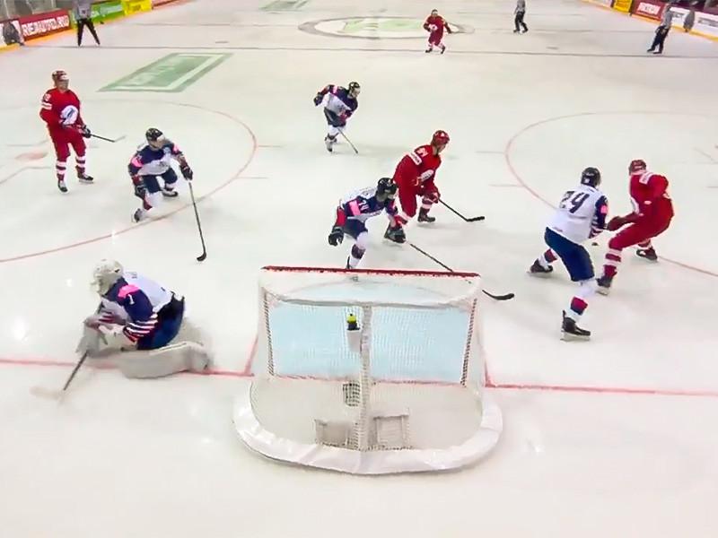 В Риге сборная России со счетом 7:1 уверенно переиграла команду Великобритании в матче предварительного этапа чемпионата мира по хоккею