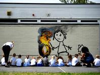 Бэнкси отблагодарил школу в Бристоле, нарисовав граффити на стене