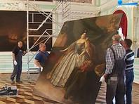 При реставрации портрета Екатерины I из Большого дворца Петергофа была найдена другая картина