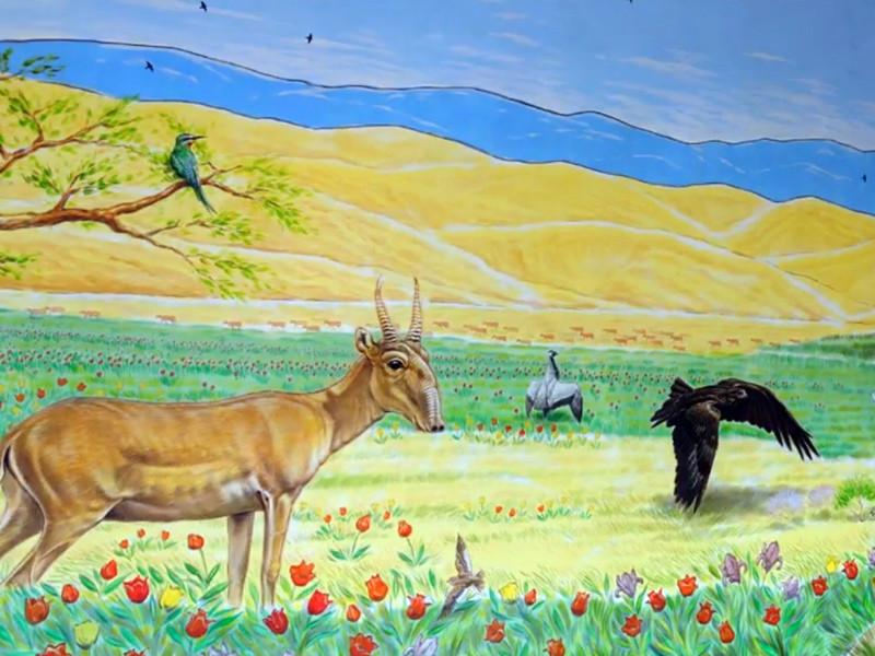 Рисунки животных степей