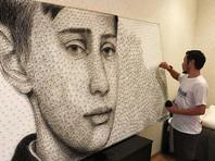 Художник из Киргизии создает портрет юного Путина из ниток и гвоздей, но дарить его президенту не будет
