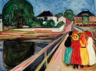 "Картина Эдварда Мунка ""Девушки на мосту"" продана с молотка за 54,5 млн долларов"